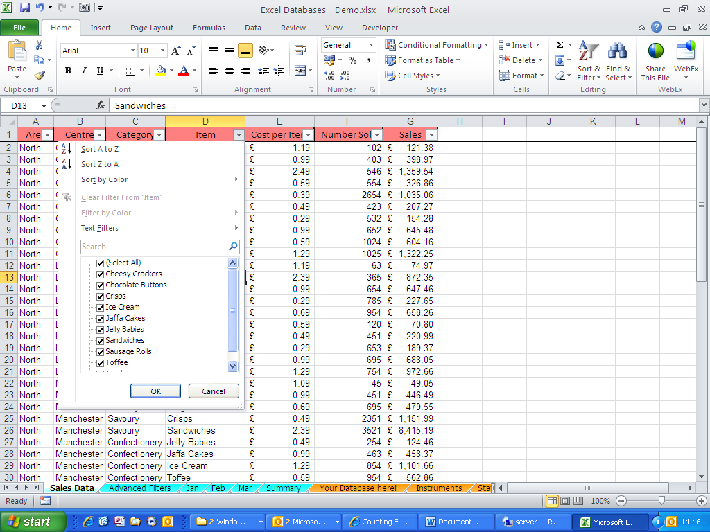 Excel Blog - Calculations on a Filtered List | Happy Ltd