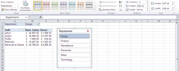 How to Customise Your Excel Reports With Slicers | Happy Ltd
